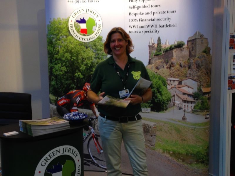 Ariane from Green Jersey French Cycling Tours at the NEC Bike Show