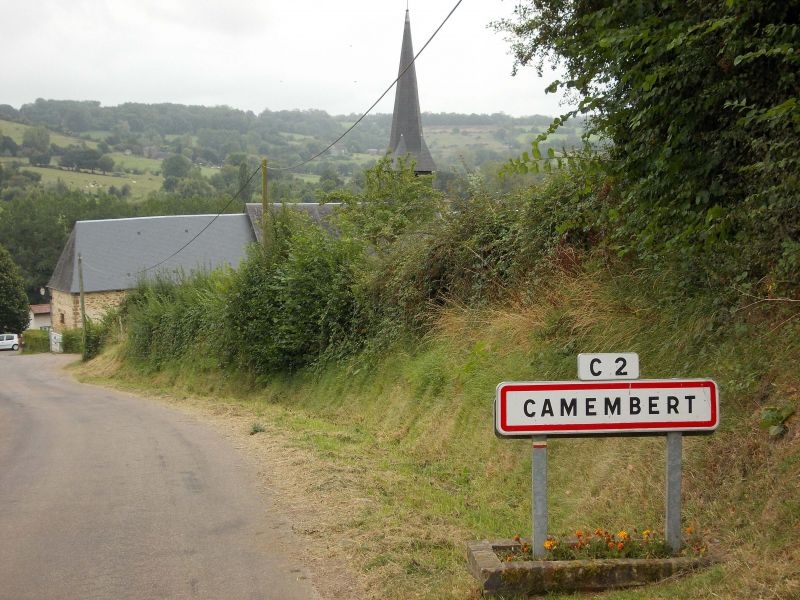 Camembert in Normandy, world famous for its cheese and which we pass through on our Normandy cycling holidays.