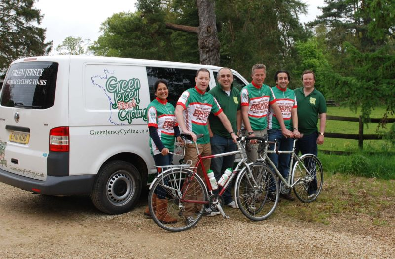 The support team at Green Jersey French cycling tours