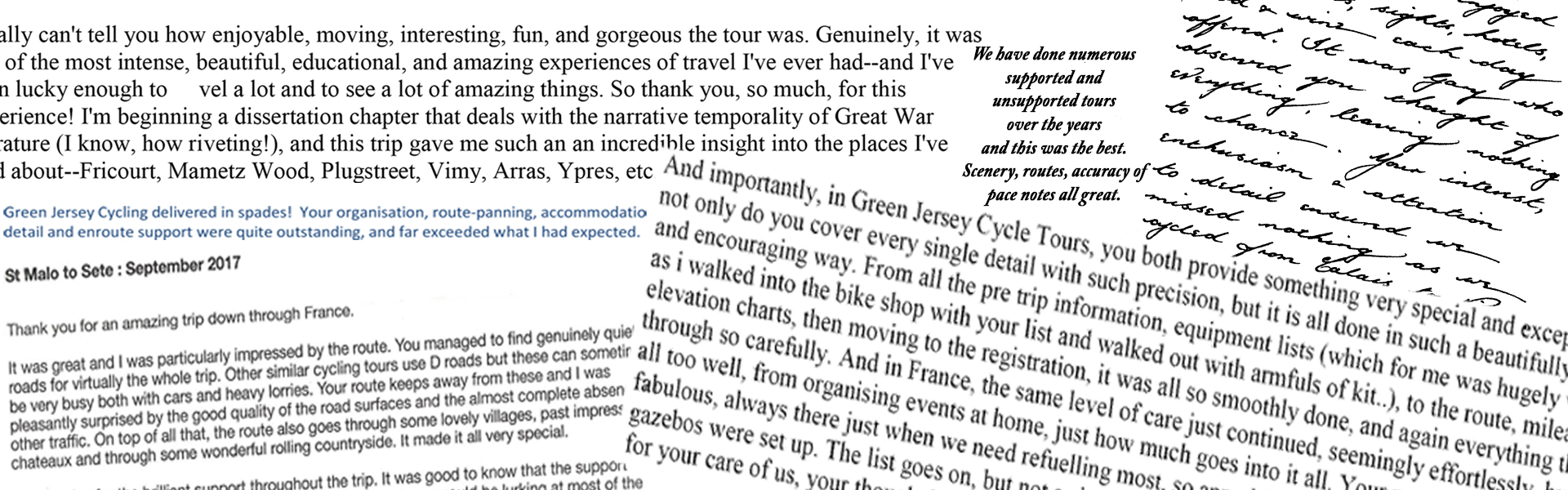Testimonials | Green Jersey French Cycling Tours