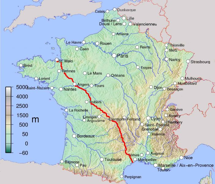 What Is Our Longest French Cycling Holiday St Malo To S�te: Saint Malo France Map At Infoasik.co