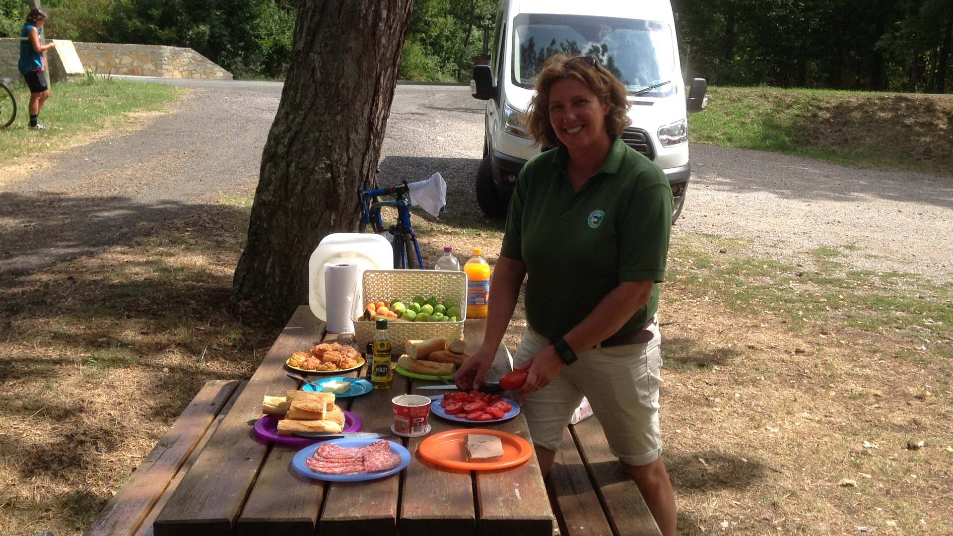 Picnic on your cycling holiday in France