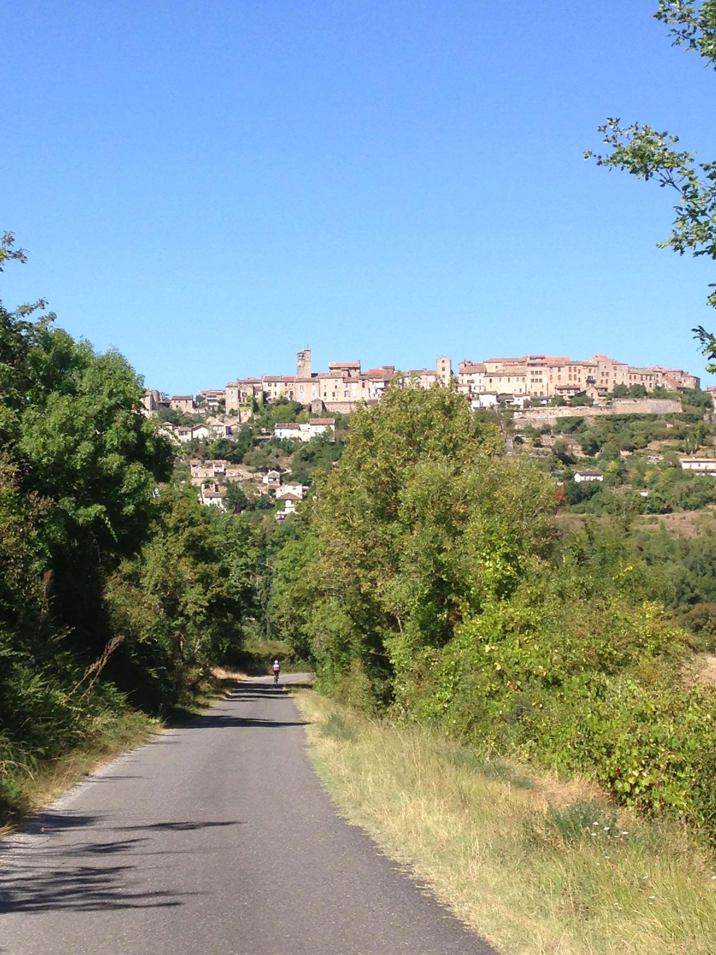 Hilltop towns in south of France