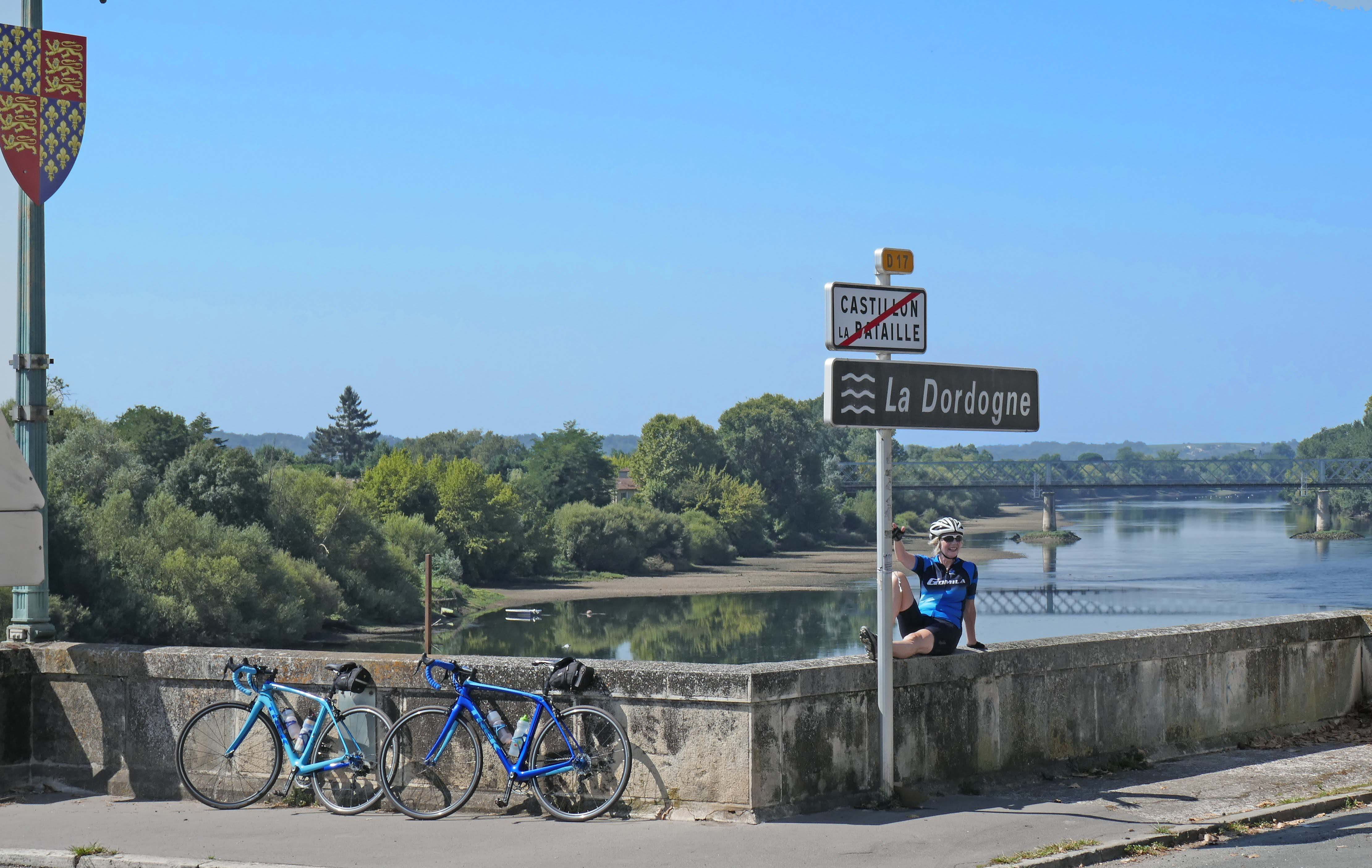 Crossing the Dordogne, one of France's great rivers