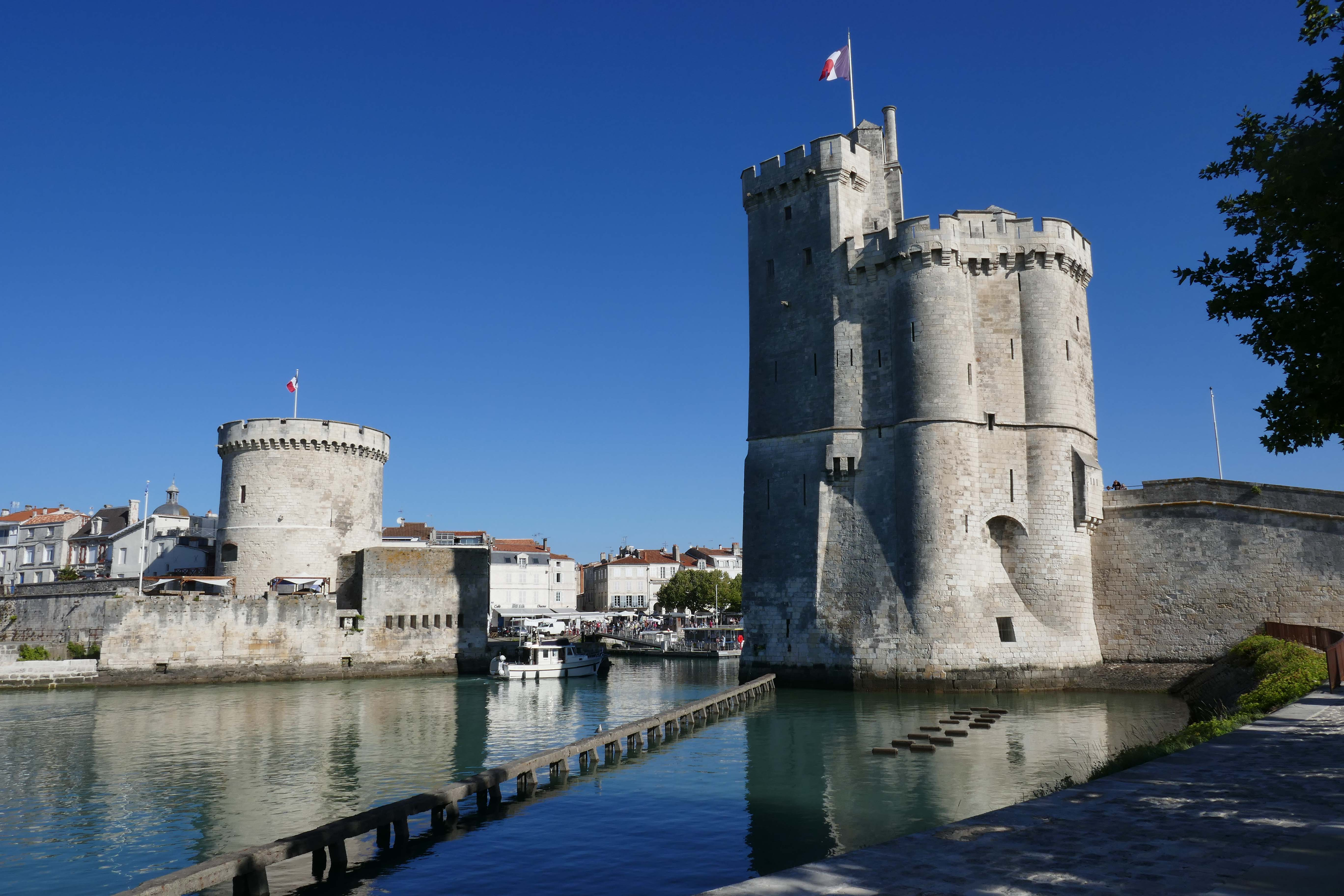 The iconic harbour towers of La Rochelle