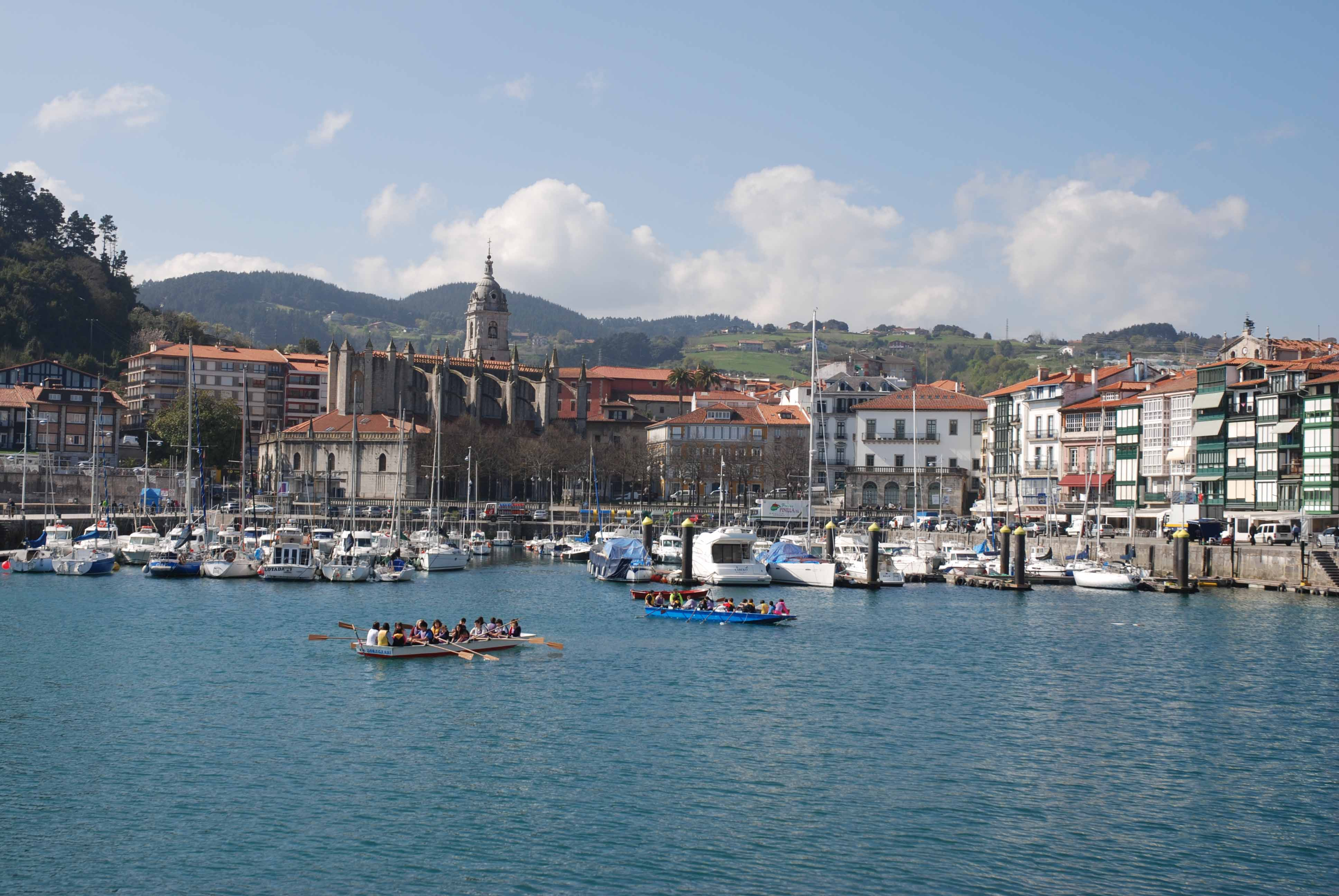 Pretty harbour in the Basque country