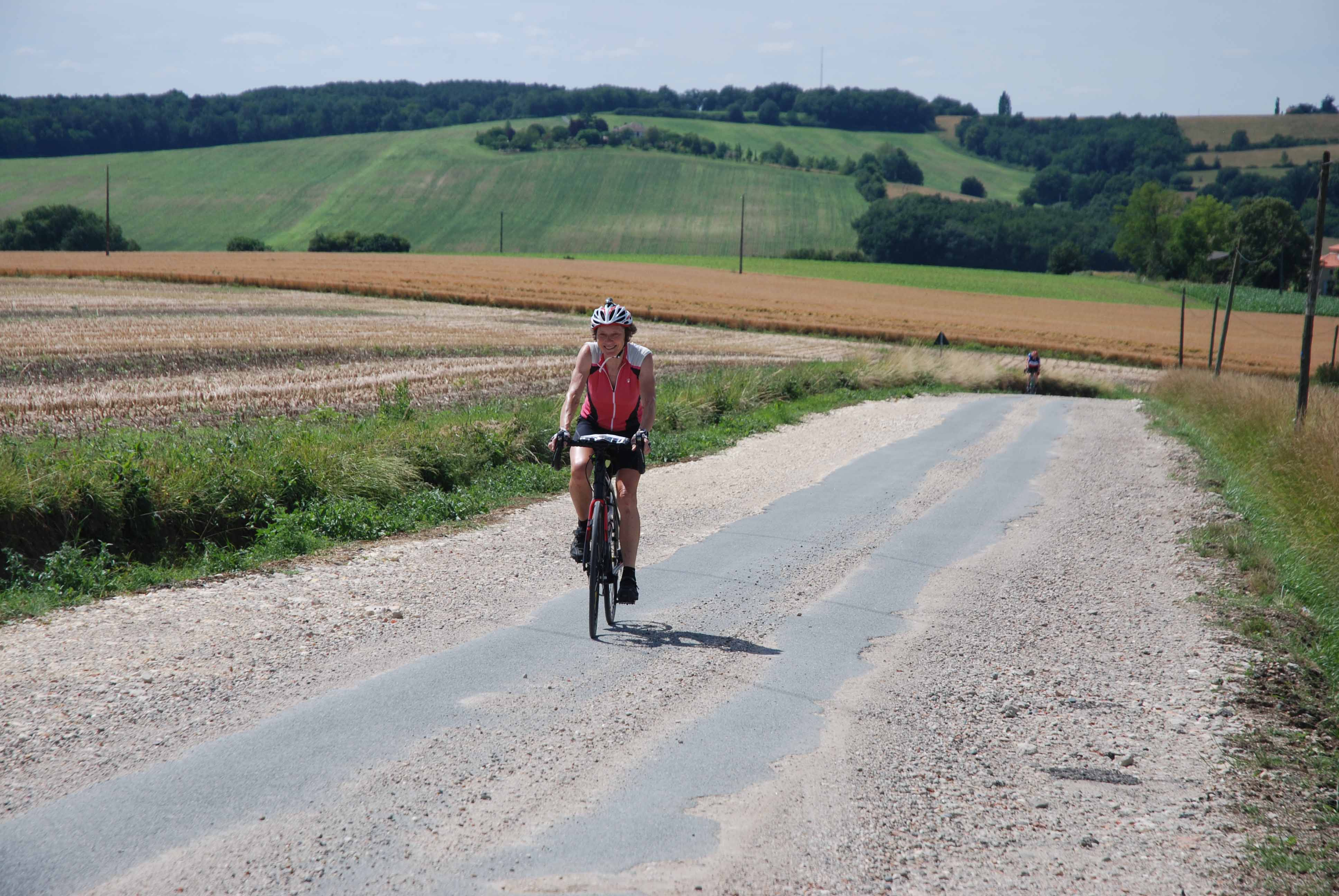 Rolling countryside cycling through the ancient kingdom of Gascony