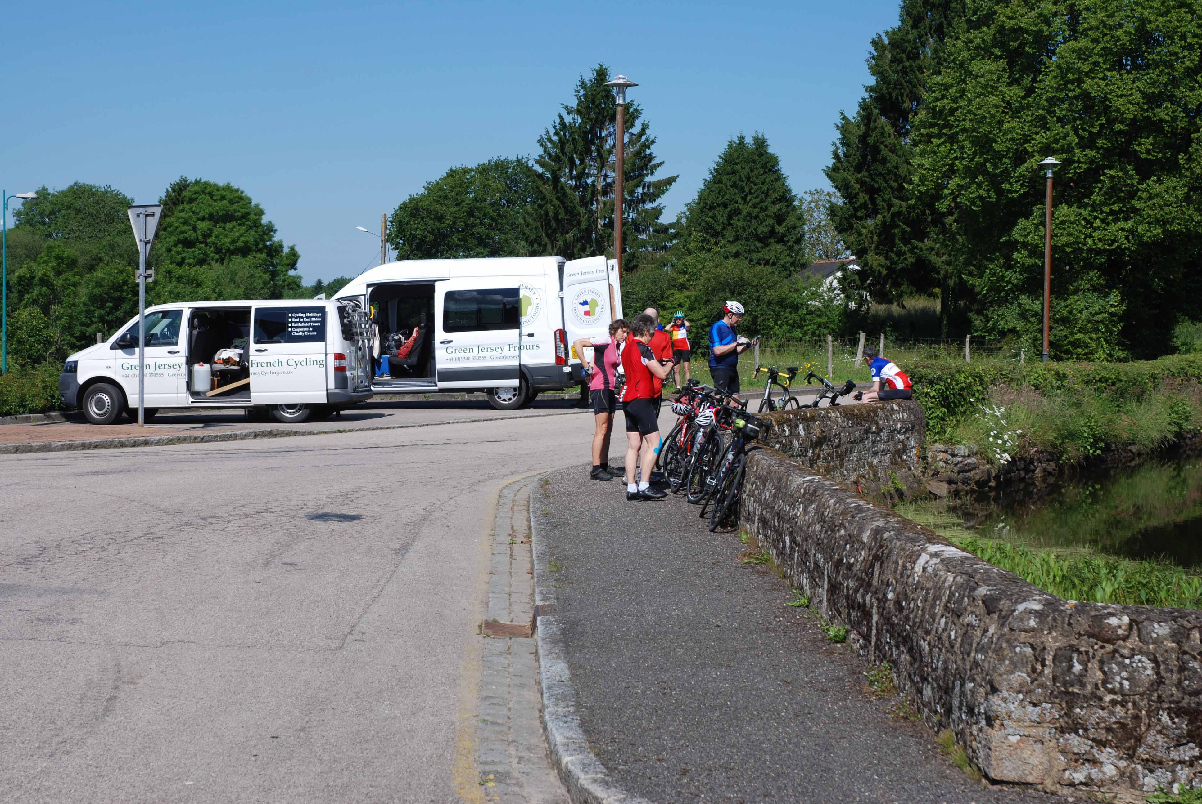 One of our coffee stops, keeping cyclists fed and watered!