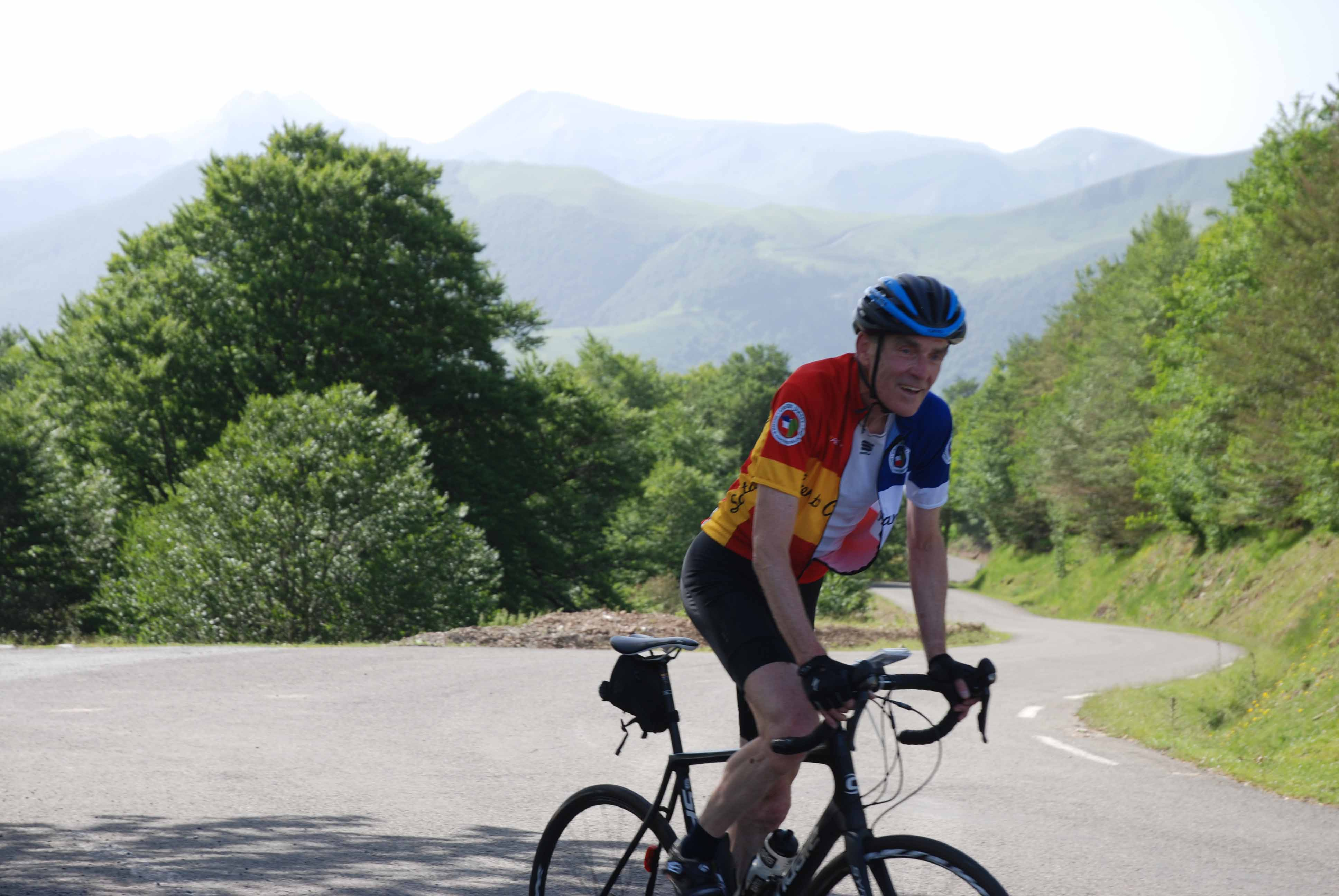 The top of a Pyrenean col
