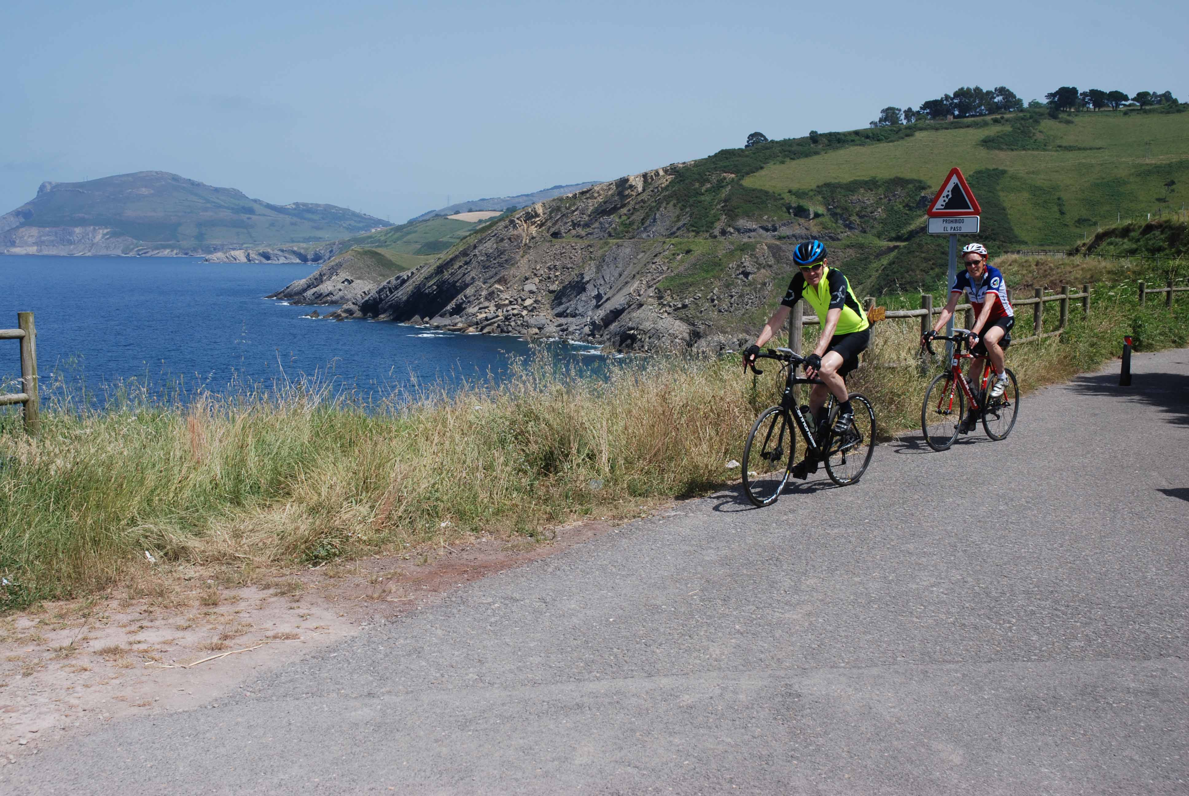 The coast in Spain; at this point our route follows the Camino de Santiago