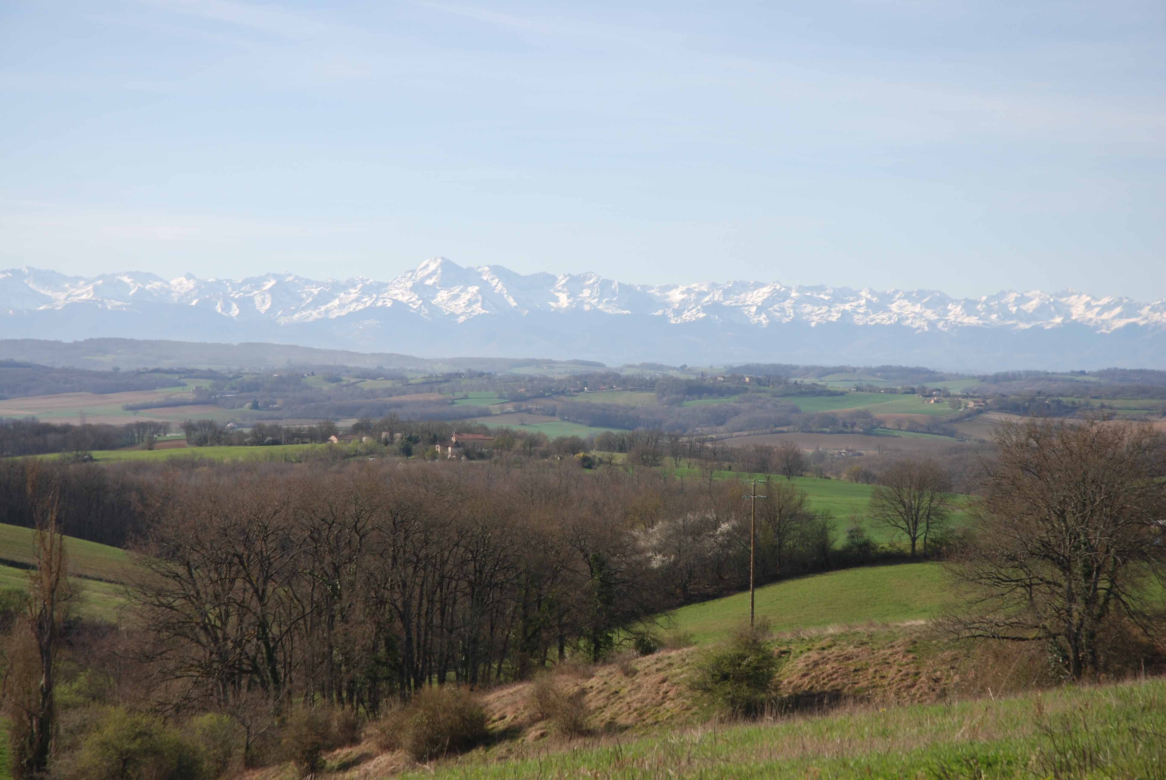 Cycling towards the majestic Pyrenees