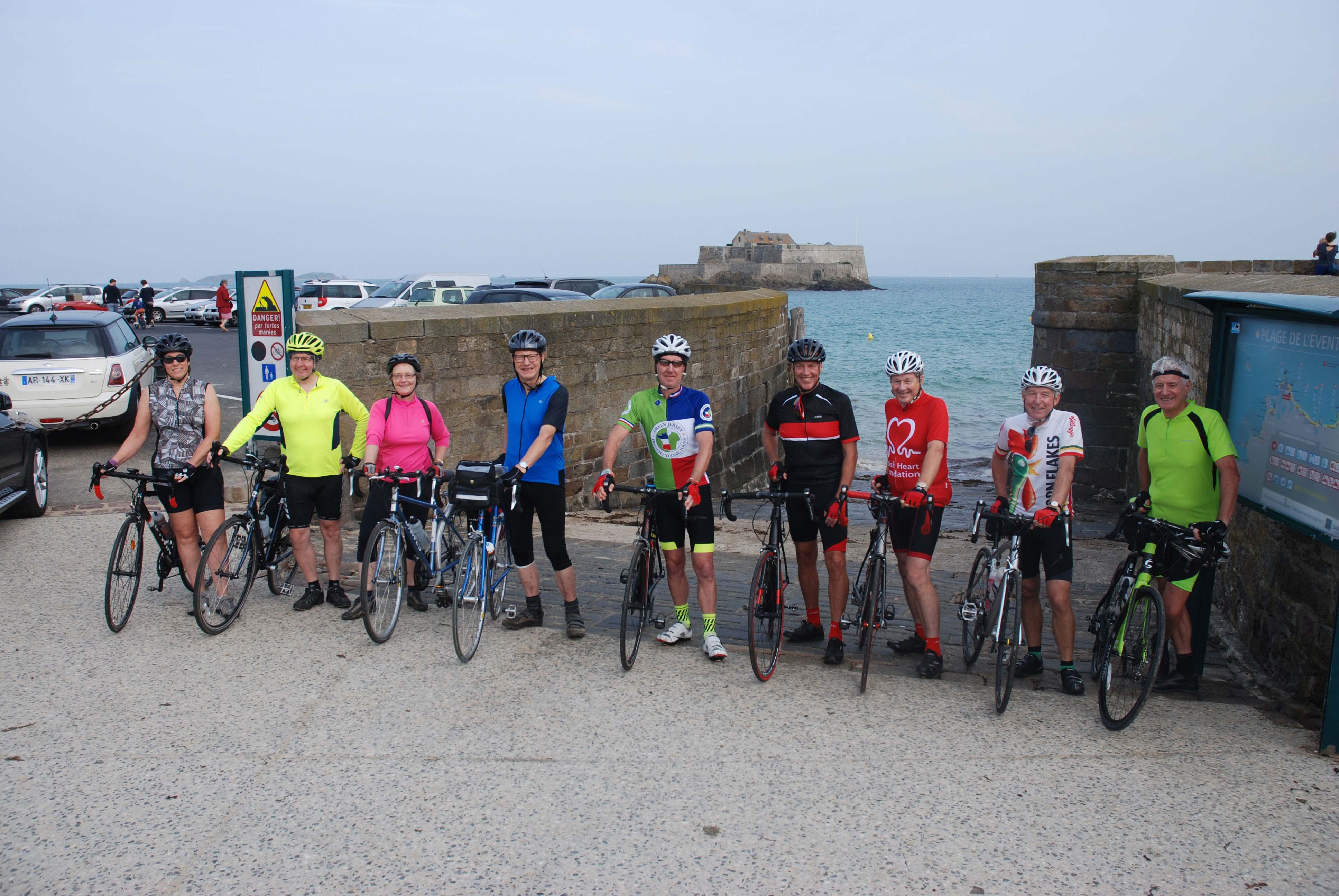 Setting off from St Malo on our cycling tour of Brittany