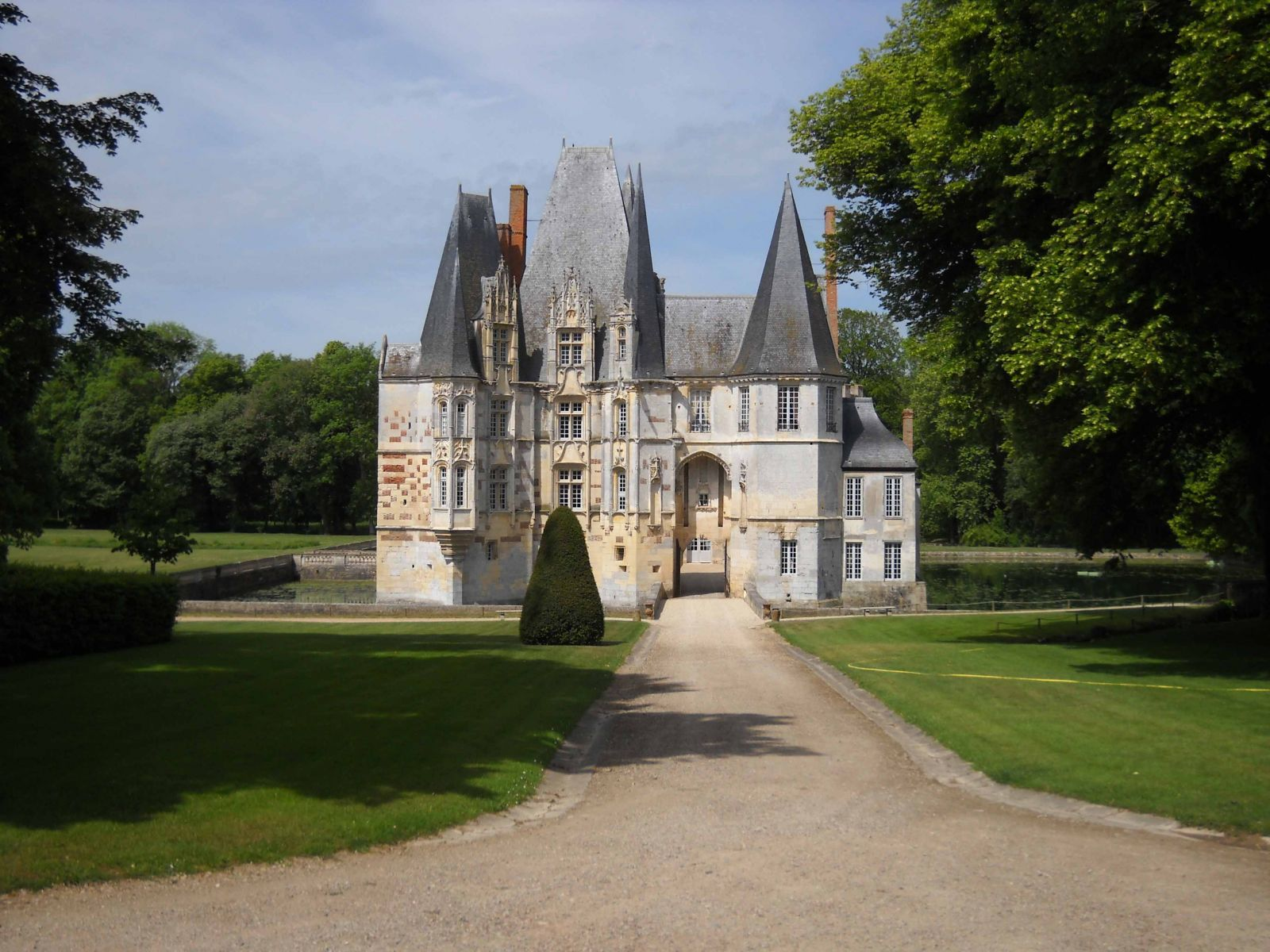 Pretty chateaux abound in Normandy