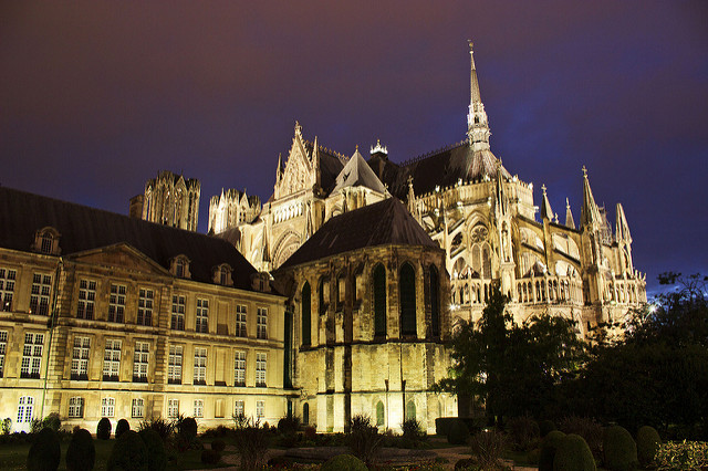 Beautiful Reims lies on the route