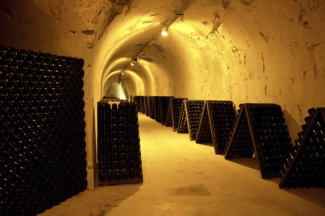 Champagne cellars in Reims