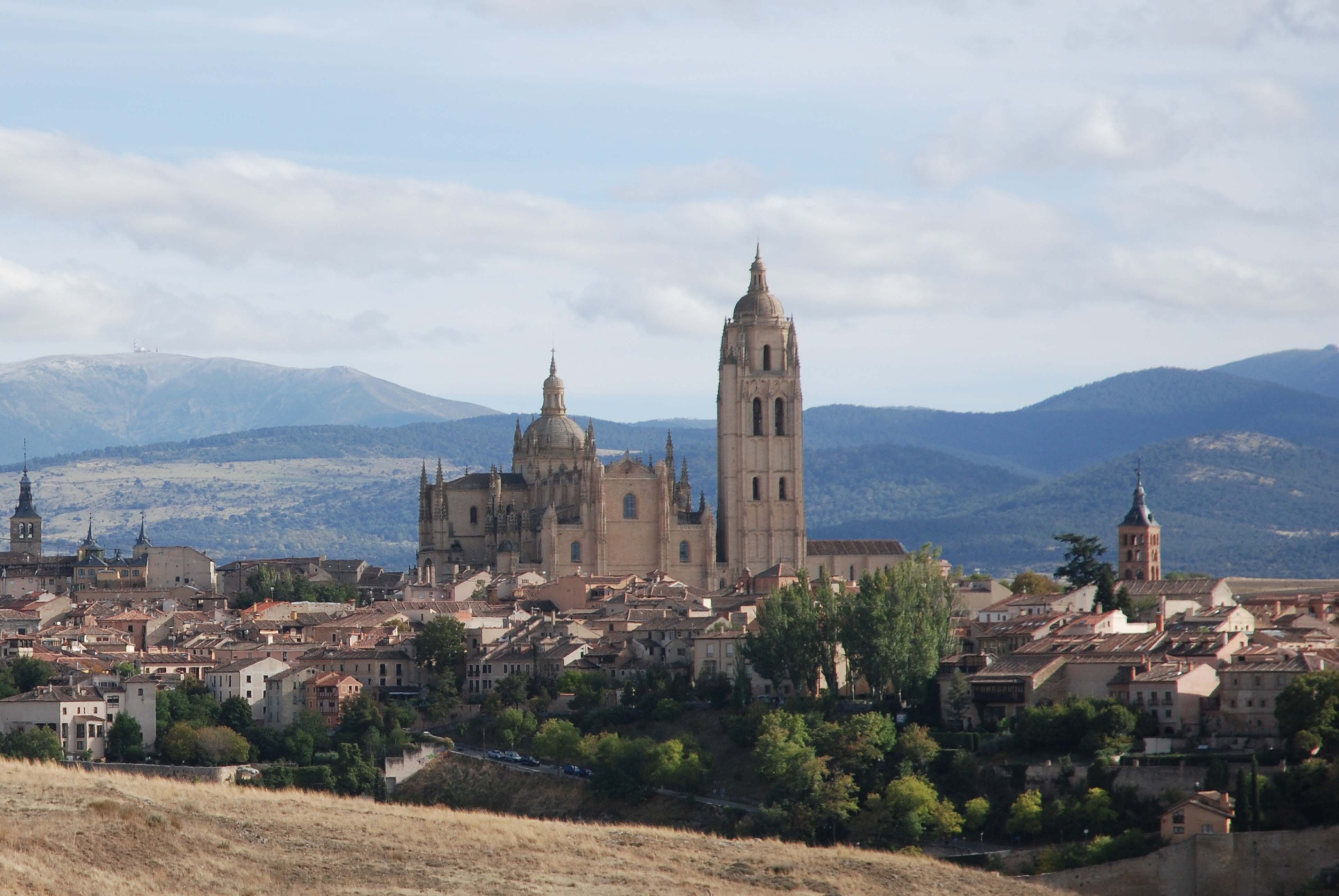 Beautiful skyline of Segovia