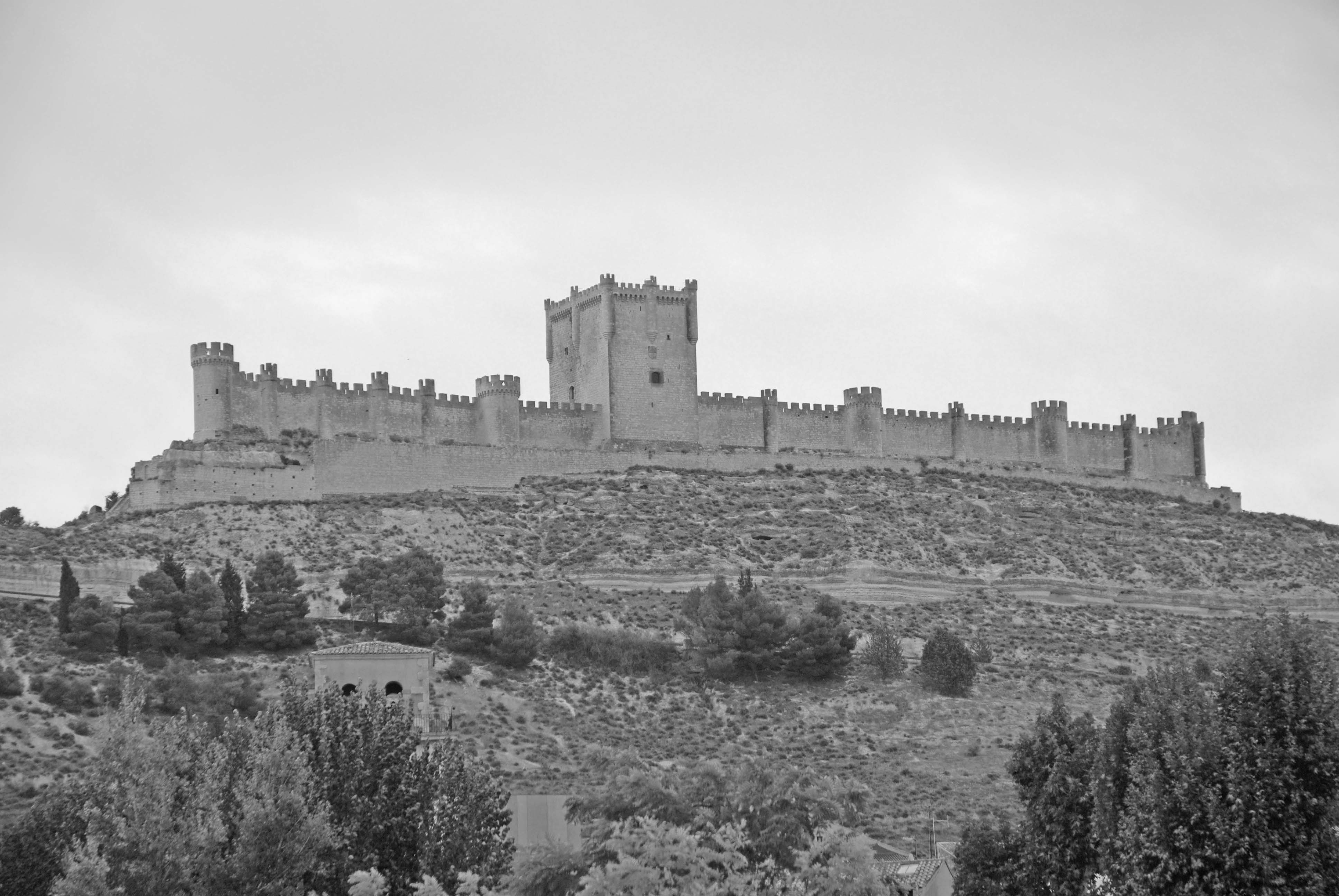 Penafiel castle, as viewed from our hotel terrace