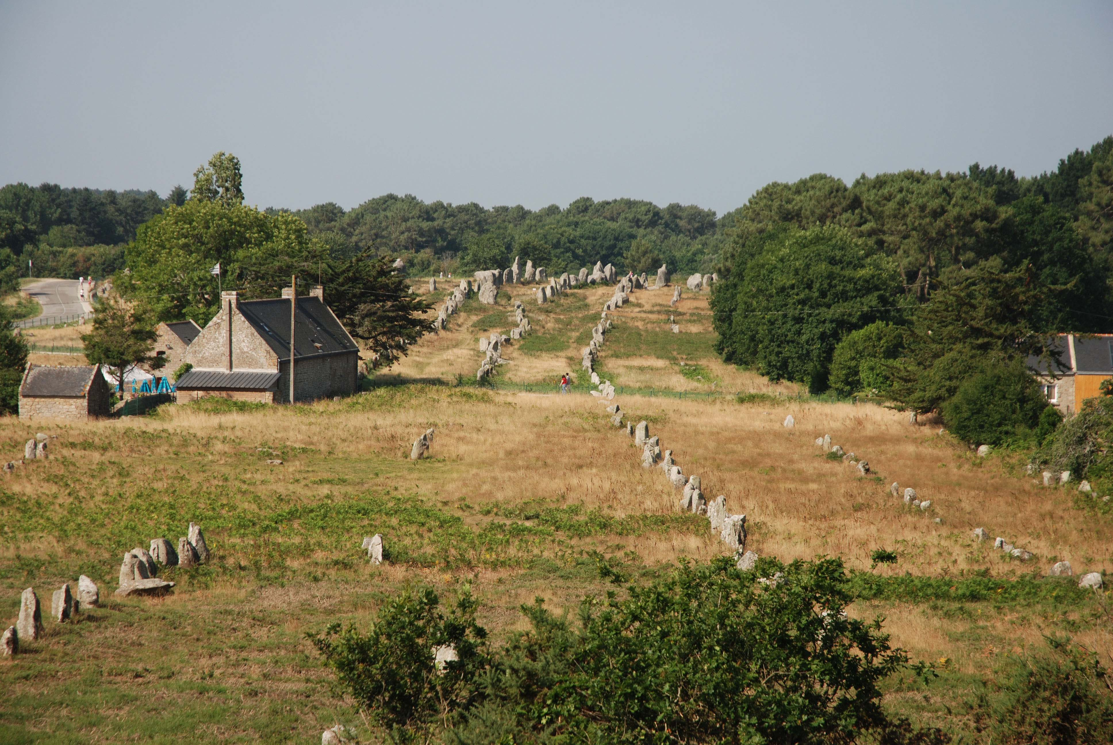 Cycling past historic sites in Brittany