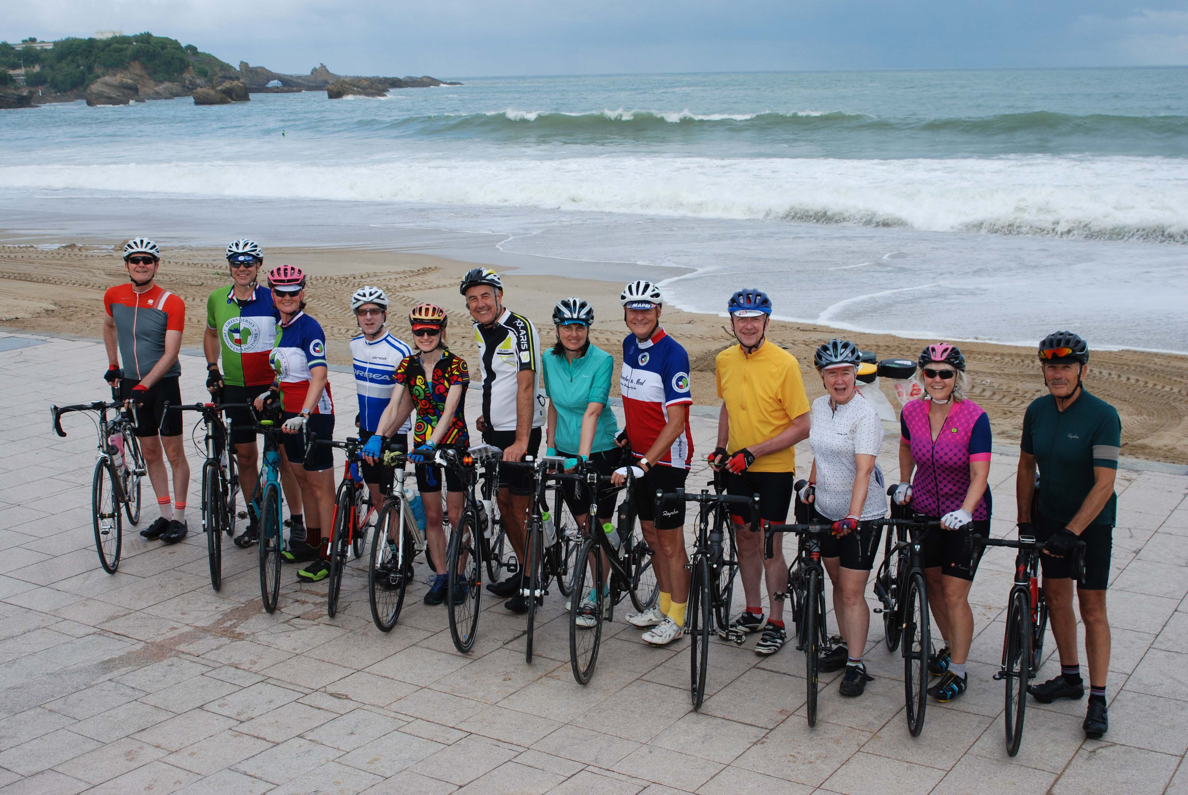 Setting off on our cycling adventure from Biarritz to Roscoff